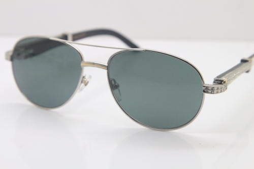 Carter CT Diamond 569 Black Mix White Genuine Natural Original Buffalo horn Sunglasses Gold Brown Lens Limited edition