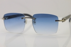 Wholesale High-end brand Carter CT8300816 Rimless Original Black Buffalo Horn Sunglasses in Gold Brown Lens Hot