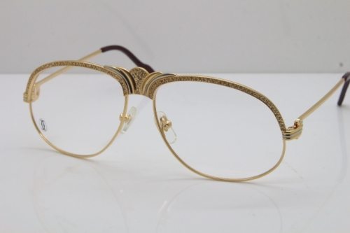 Cartier Crown Diamond 1112530 Original Eyeglasses In Gold